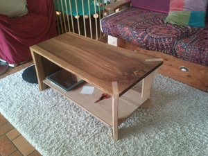 Table basse noyer et frene