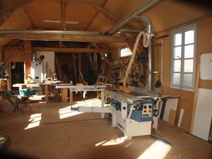 Atelier de menuiserie tout en bois créé dans les années 30