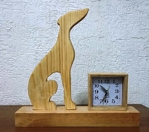 Horloge décorative silhouette Greyhound