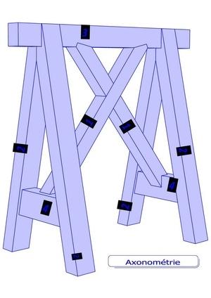 Tréteaux charpente modèle E.Dupuit