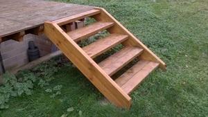 enfin un escalier pour ma terrasse