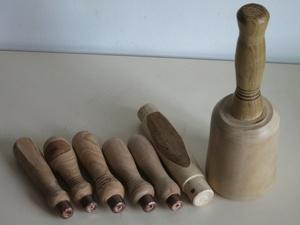Maillet de sculpteur et manches d'outils