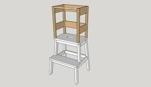 Tour d'apprentissage à partir d'un tabouret IKEA