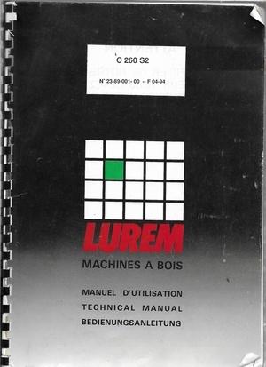 Manuel d'utilisation Lurem C 260 S2