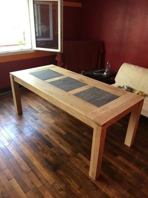 Table chêne et ciment