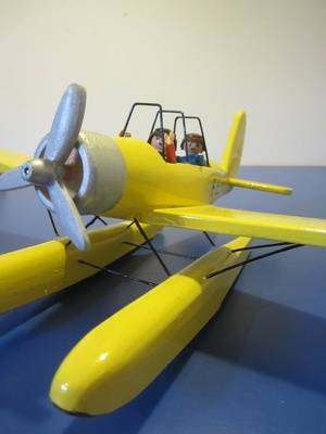L'avion de tintin pour playmobil
