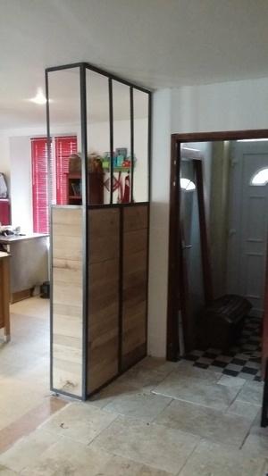 Séparation bois métal type verrière Atelier