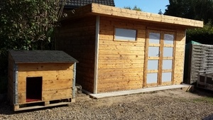Restauration d'une cabane de jardin