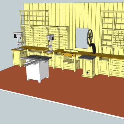 plan atelier de menuiserie par zeloko sur l 39 air du bois. Black Bedroom Furniture Sets. Home Design Ideas