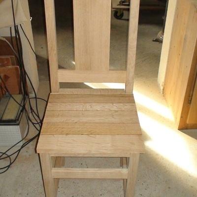 L 39 air du bois chaise en ch ne massif for Chaise vibrante