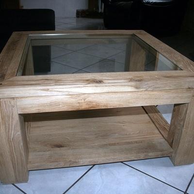 table basse de salon double plateau vitr e par malamute74 sur l 39 air du bois. Black Bedroom Furniture Sets. Home Design Ideas