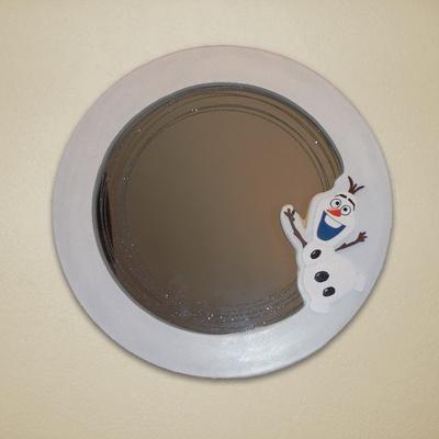 Miroir circulaire reine des neiges par zorro sur l 39 air du bois for Miroir circulaire