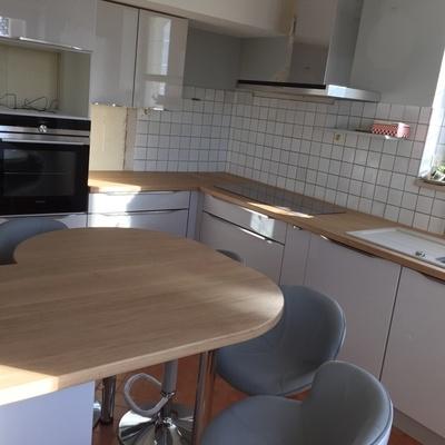 fabrication d 39 un plan de travail en chene par toutenbois37 sur l 39 air du bois. Black Bedroom Furniture Sets. Home Design Ideas