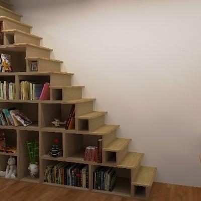 escalier biblioth que par dehutmenuiserie sur l 39 air du bois. Black Bedroom Furniture Sets. Home Design Ideas