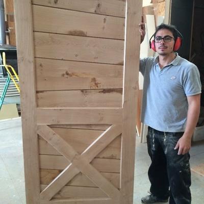 porte avec lame queue de billard par jeremycmdd sur l 39 air du bois. Black Bedroom Furniture Sets. Home Design Ideas
