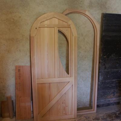 Porte de cabane par zeloko sur l 39 air du bois - Porte cabane bois ...