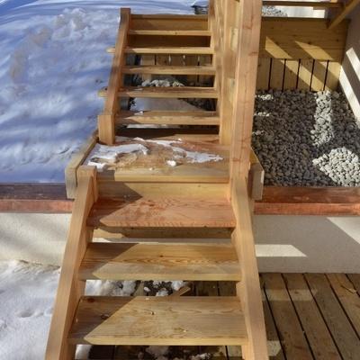 escalier massif exterieur m l ze par boisdesavoie sur l 39 air du bois. Black Bedroom Furniture Sets. Home Design Ideas
