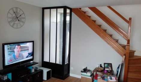 verri re d 39 int rieur premier projet par amsterixm sur l 39 air du bois. Black Bedroom Furniture Sets. Home Design Ideas
