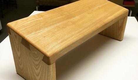 banc de meditation en frenes par arthur sur l 39 air du bois. Black Bedroom Furniture Sets. Home Design Ideas