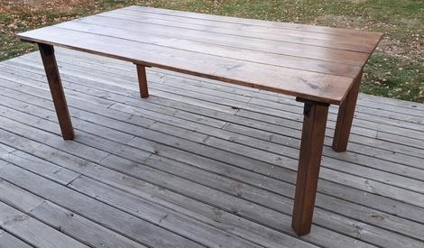table ext rieure par zan sur l 39 air du bois. Black Bedroom Furniture Sets. Home Design Ideas