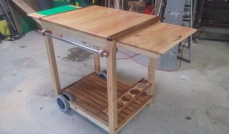 une servante pour plancha par toutikini sur l 39 air du bois. Black Bedroom Furniture Sets. Home Design Ideas