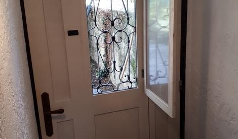 fabrication sur mesure d 39 une porte d 39 entr e par cousin06. Black Bedroom Furniture Sets. Home Design Ideas