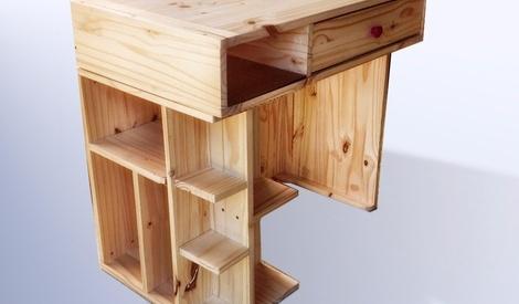 petit bureau fonctionnel par jeplor sur l 39 air du bois. Black Bedroom Furniture Sets. Home Design Ideas