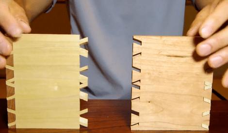Un assemblage original trouv par zeloko sur l 39 air du bois - Assemblage bois japonais ...