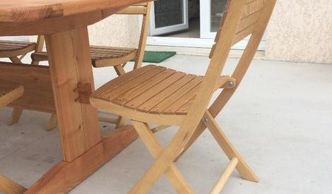 chaises de jardin en bois pliantes