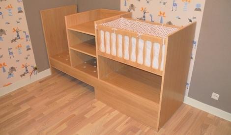 plan plan de lit volutif 3 en 1 b b enfant ado par srabich42 sur l 39 air du bois. Black Bedroom Furniture Sets. Home Design Ideas