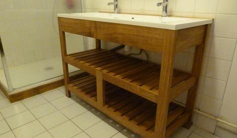 meuble vasque en ch ne par peiot sur l 39 air du bois. Black Bedroom Furniture Sets. Home Design Ideas