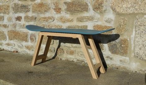 table bois avec banc