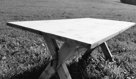 r novation ancienne table de chalet par niclasse sur l 39 air du bois. Black Bedroom Furniture Sets. Home Design Ideas