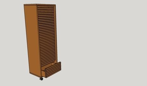 Pas pas chiffonnier ch ne par nico39 sur l 39 air du bois for Roulette deplace meuble