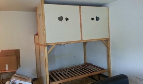 lit mezzanine par niclasse sur l 39 air du bois. Black Bedroom Furniture Sets. Home Design Ideas