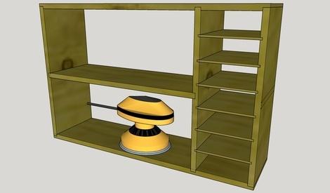 plan etagere pour mes ponceuses par worldcompany sur l 39 air du bois. Black Bedroom Furniture Sets. Home Design Ideas