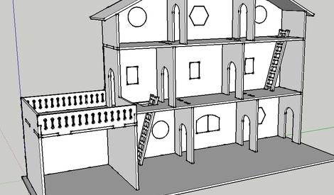 Plan Maison De Poupee Decoupe Laser Par Mokozore Sur L Air Du Bois