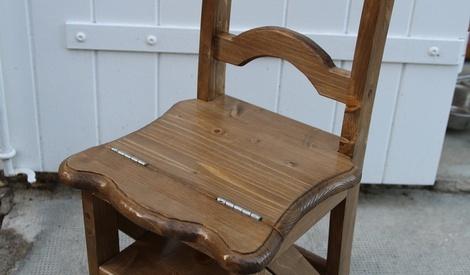 chaise escabeau par aiakos sur l 39 air du bois. Black Bedroom Furniture Sets. Home Design Ideas