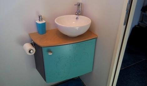 petit meuble lave main pour wc par aurelien mobbler sur l 39 air du bois. Black Bedroom Furniture Sets. Home Design Ideas