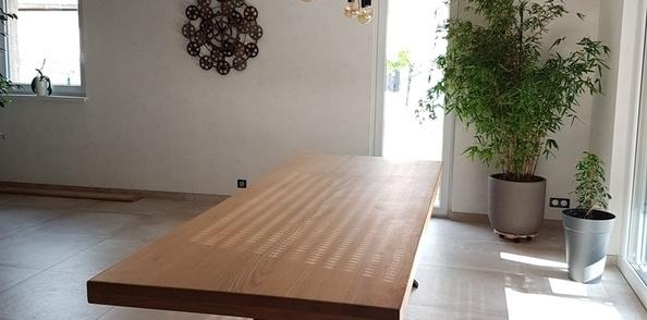 Pas A Pas Fabrication D Une Table De Salle A Manger En