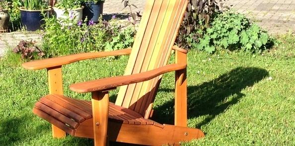 Réalisation d'un fauteuil Adirondack