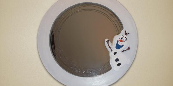 Miroir circulaire Reine des Neiges