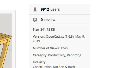 OpenCutList 1.6.3 : Petites améliorations