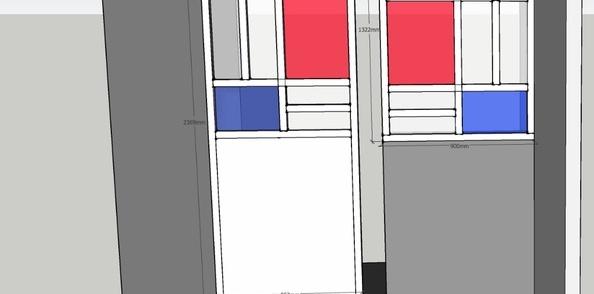 Projet de verrière inspiration Mondrian