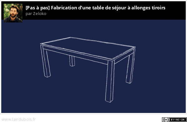 Fabrication d'une table de séjour à allonges Sticker