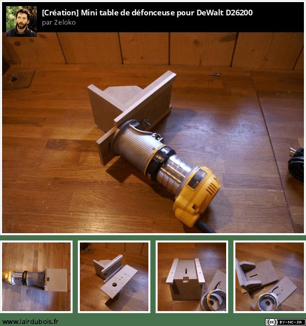 Mini table de défonceuse pour DeWalt D26200 Sticker