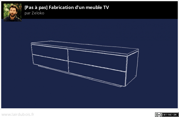 Fabrication d'un meuble TV Sticker