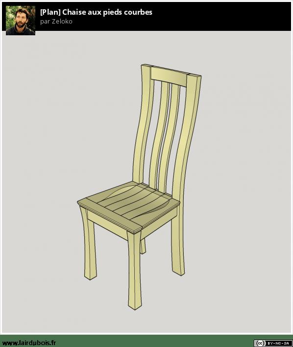 Chaises en hêtre aux pieds courbes Sticker