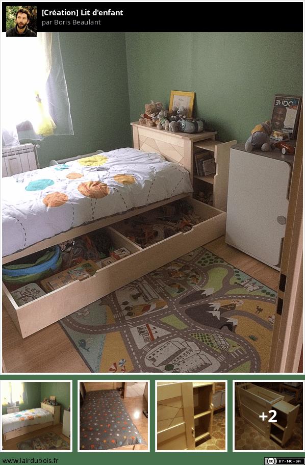 Fabrication d'un lit d'enfant Sticker
