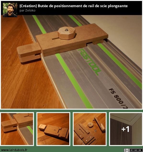 Butée de positionnement de rail de scie plongeante Sticker